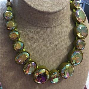 ISO J. Crew jumbo green iridescent necklace